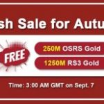 Group logo of RSorder 2020 Autumn Flash Sale: Cheap OSRS Gold Online to Take for Free on Sept 7